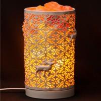 Соляная лампа-камин Цилиндр Белый