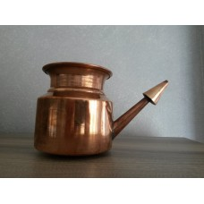 Нети-пот (Neti pot) медный для аюрведической процедуры очистки носовых и гайморовых пазух, 450 мл
