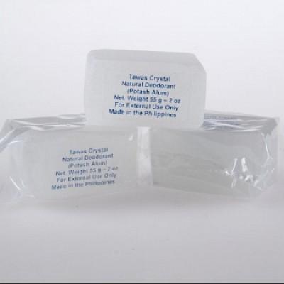 Tawas Crystal Кристалл-слиток супер-мини брусок с глицерином, 55 г