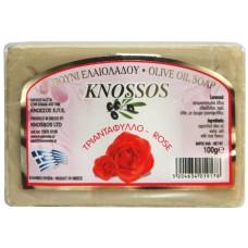 KNOSSOS Мыло оливковое c розой, 100 г