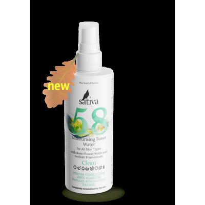 Sativa Тоник увлажняющий для всех типов кожи №58, 150 мл