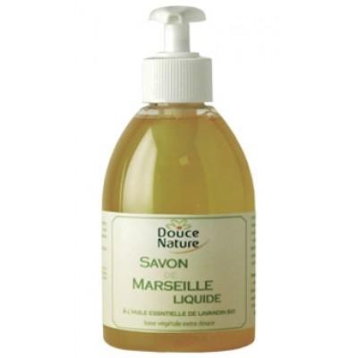 DOUCE NATURE Биоорганическое жидкое Мыло «Марсельское» с эфирным маслом лавандина, 300 мл