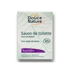 DOUCE NATURE Биоорганическое мыло туалетное с экстрактом лавандина, 100 г