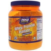 Now Foods Для спорта, изолят сывороточного протеина, натуральный вкус, 1,2 фунта (544 г)