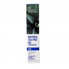 Desert Essence Натуральная мятная зубная паста с маслом чайного дерева, 176г