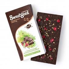 Шоколад горький на виноградном сахаре с проростками конопли и брусникой