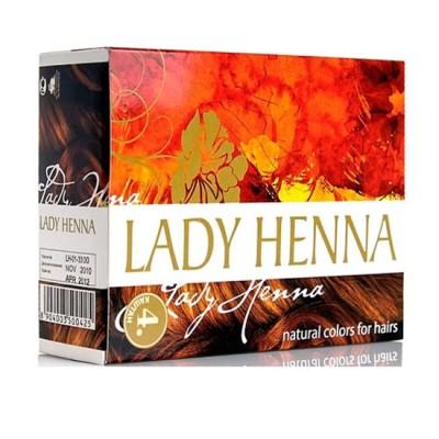 LADY HENNA Краска для волос на основе хны- Каштан, 6*10 г