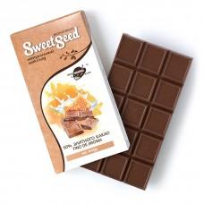 Шоколад молочный на меду 50% какао, 85 г