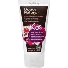 Douce Nature Детская зубная паста с клубникой, 75 мл