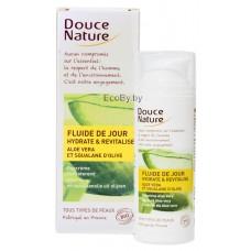 Douce Nature Биокрем флюид увлажняющий дневной для лица с алоэ вера, 50 мл