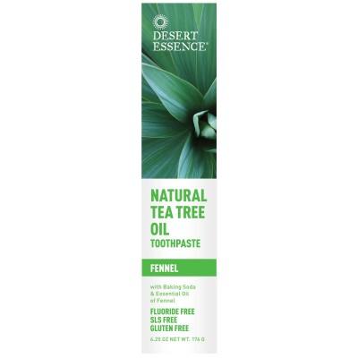 Desert Essence Натуральная зубная паста с маслом чайного дерева и фенхелем, 6.25 унций (176 г)