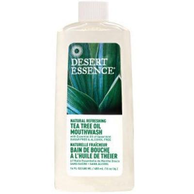 Desert Essence Освежающая безалкогольная жидкость для полоскания рта с экстрактом чайного дерева, 480 мл