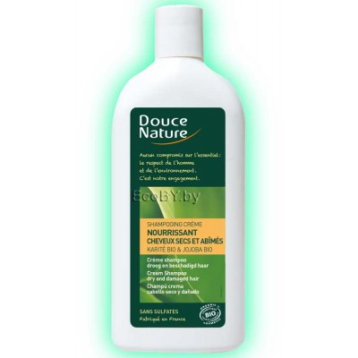 Douce Nature Шампунь-крем для сухих волос с маслом карите, 300мл