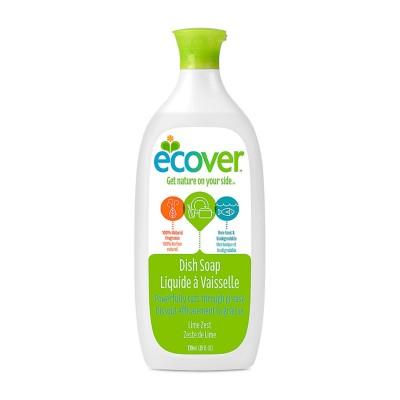 ECOVER Жидкое моющее средство для посуды, лаймовая цедра, 25 жидких унций (739 мл)