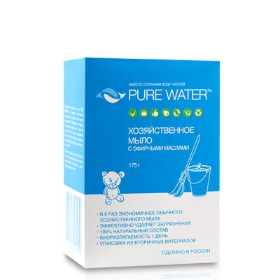 PURE WATER Хозяйственное мыло с эфирными маслами, 175 г