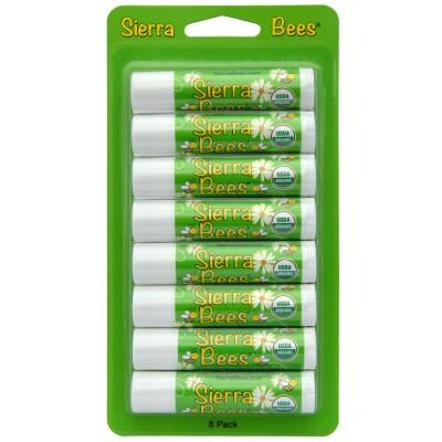 Sierra Bees Органический бальзам для губ Мятный взрыв, 0,15 унции (4,25 г)