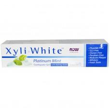Now Foods Гелевая зубная паста я мятой Xyli-White Platinum Mint, 181г