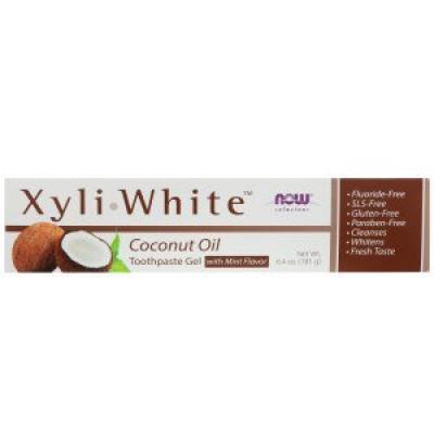 Now Foods Гель-паста Coconut Oil, Mint Flavor (181 g)