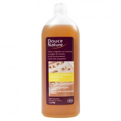 DOUCE NATURE Шампунь для тела и волос с Марсельским мылом и эфирными маслами, 1 л