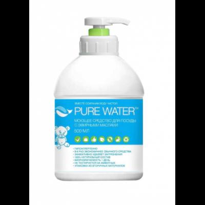 PURE WATER Средство для посуды с эфирными маслами, 500 мл
