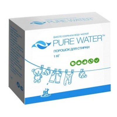 PURE WATER Стиральный порошок, 1 кг