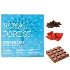 ROYAL FOREST Шоколад из кэроба с ягодами годжи и изюмом, 75 г